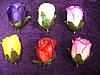 Бутон розы атлас с зеленью