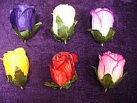 Бутон розы атлас с зеленью, фото 1