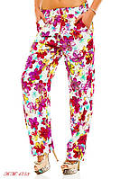 Женские штаны с цветами №56-114