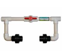 """Узел BA 0134 для инжектора с резьбой 3/4"""", комплектующие для системы капельного полива, кран, пластик"""