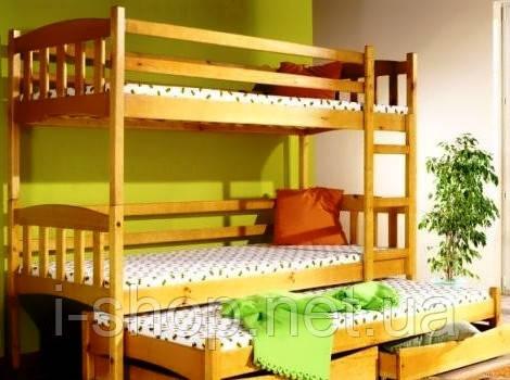 Кровать двухъярусная Трио+