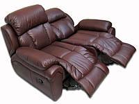 """Стильный кожаный диван """"Boston"""" (Бостон) Двухместный (162 см), Реклайнер, натуральная кожа"""
