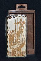 """Чехол-накладка Lenovo A6020""""Памятник основателям Киева""""деревянный на силиконовой основе(Леново A6020,накладка)"""