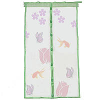 Москитная сетка дверная Magic Mesh (Меджик Меш с цветочками