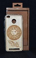 """Чехол-накаладка Xiaomi Redmi Note 3s/3 """"Солнце и луна"""", деревянный на силиконовой основе"""