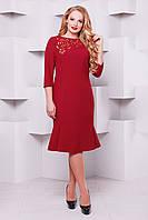 Оригінальне плаття з перфорацією Анюта червона, фото 1