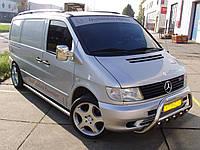 Пороги труба Mercedes Vito 1996-2003 нержавейка