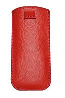Чехол с вытяжной лентой  красный Nokia 225 ( Нокиа 225, карманчик,чехол-книжка, бампер, кейс, защита телефона)