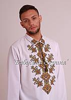 Заготівля чоловічої сорочки для вишивки нитками/бісером БС-123ч, фото 1