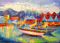 «Лодки Испании» картина маслом
