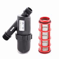 Капельный полив: фильтр сетчатый 1732-S-120, дюймовый, 120 меш, расход воды 2-3 м³/ч, давление 3 атм