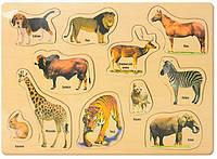 Деревянная рамка-вкладыш Дикие животные (большая)
