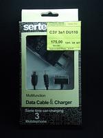 Сетевое зарядное устройство 3в1 DU110