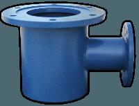 Подставка под гидрант ППОФ Ду100 сталь (непроходная, односторонняя)