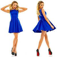 """Женское модное платье """" Жемчуг """" цвет  :  бежевый,   коралл,   электрик,   синий  ЕА055"""