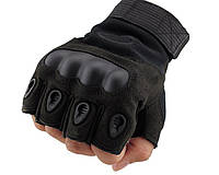 Беспалые тактические перчатки OAKLEY черные