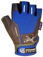 Перчатки для фитнеса синие WOMANS POWER без пальцев женские р. S