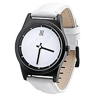 "Белые женские часы ""White"", кожаные"