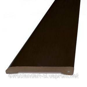 Наличник пластиковый Омис 60мм. 2,2 м. (шоколад)