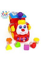 Музыкальная игрушка сортер huile toys Паровозик (556)