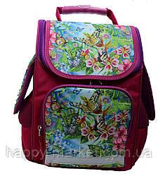 Ранец школьный ортопедический Vombato Цветы бабочки 3 D 5555-1