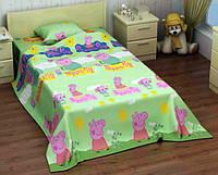 Подростковое постельное белье Свинка Пеппа, бязь, хлопок - полуторный комплект