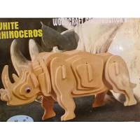Конструктор из дерева, 3D пазл Носорог