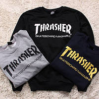 Свитшот мужской с принтом 'THRASHER' Skateboard Magazine