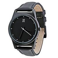 """Мужские кожаные часы """"Black""""  в подарок"""