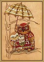 Набор для вышивания нитками на канве Под зонтом СР 4220
