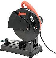 Станок для торцевой резки металла YATO P= 2300 Вт під кутом 0-90° з диском Ø= 355/25,4 мм