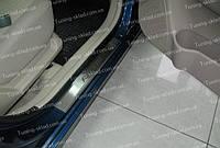 Накладки на пороги Hyundai Accent 3 Hatchback (накладки порогов Хендай Акцент 3 хэтчбек)