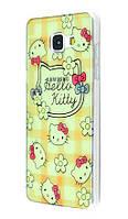 Чехол для Samsung Galaxy A3 2016 (A310) перламутр hello kitty