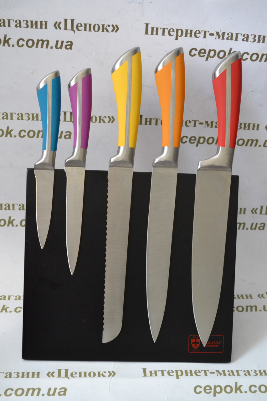 Набір ножів 5 шт на магнітній підставці