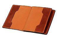 Обложка для документов, паспорта, автодокументов с отделом для карт, терракот (матовая), фото 1