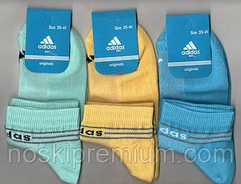 Носки женские спортивные х/б с сеткой Adidas, Athletic Sports, короткие, ассорти, 06006
