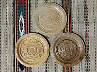 Дерев'яні тарілки сувенірні ручної роботи різьблені в асортименті 20-22 см, фото 1
