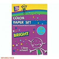Набор цветной бумаги CFS А4 ( 7цв. 14л.)
