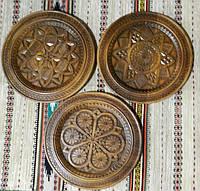Дерев'яні тарілки сувенірні ручної роботи різьблені в асортименті 30-31 см, фото 1