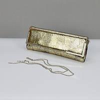 Клатч кожаный женский золотистый 50386, фото 1