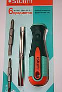 Отвертка с битами 6 предметов Sturm 1040-09-S2, фото 4
