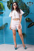 Женская белая блуза-топ Тесса ТМ Luzana 42-52 размеры