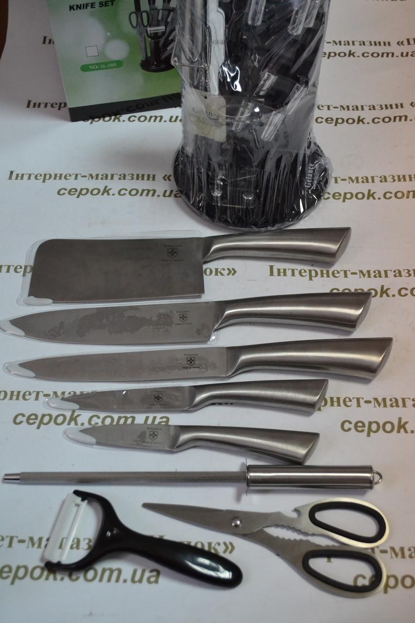 Набір ножів  на підставці 9шт ELM845