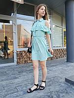 Женское платье-рубашка открытые плечи ТМ Dives