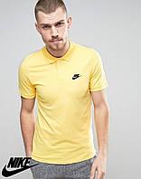 Футболка Поло Nike | Желтая тенниска Найк