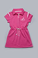 Детское платье для девочки с канатиком малиновое Модный Карапуз 03-00506-2