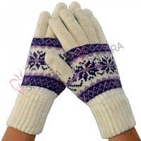 Женские зимние перчатки, удлиненные 01