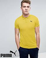 Футболка Поло Puma | Желтая тенниска Пума