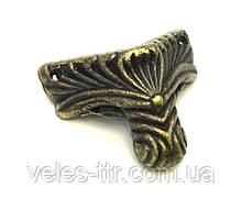 Ножка для шкатулок бронза 21х20 мм