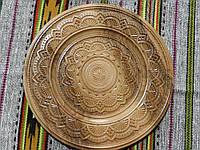 Сувенірна тарілка різьба по дереву ручної роботи в асортименті 37,5 см